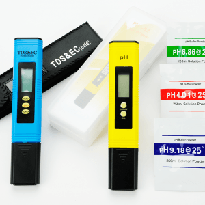 Picture of tds meter and ph meter combo set